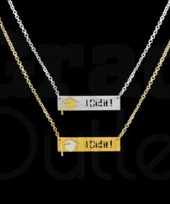 """I Did It"" Grad Necklace and Pendant"