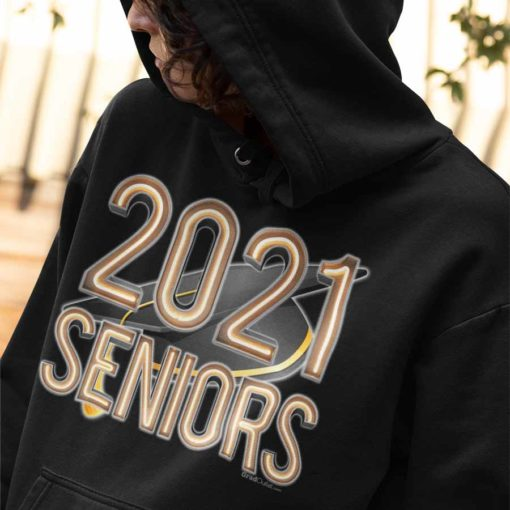 Neon Lights Graduation Year Hoodie