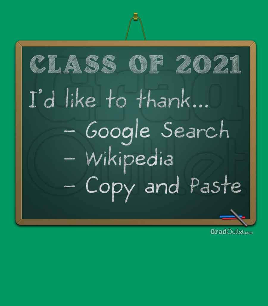 Chalkboard Thank You List