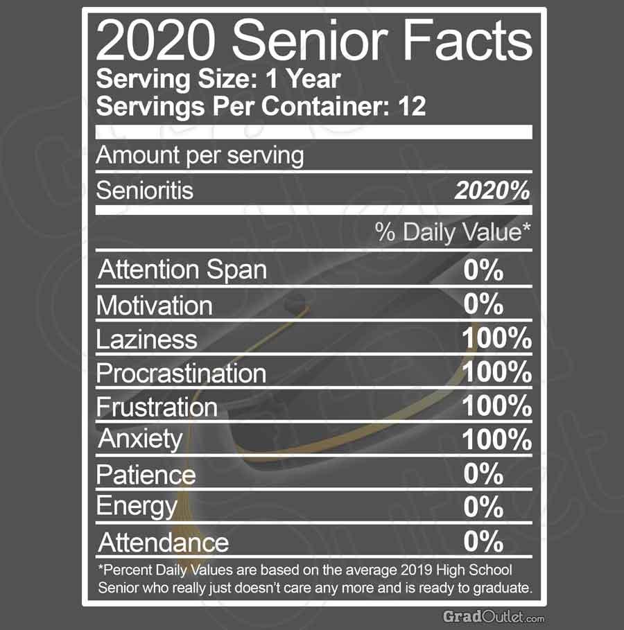 Senior Nutritional Facts - Light Print Hoodie