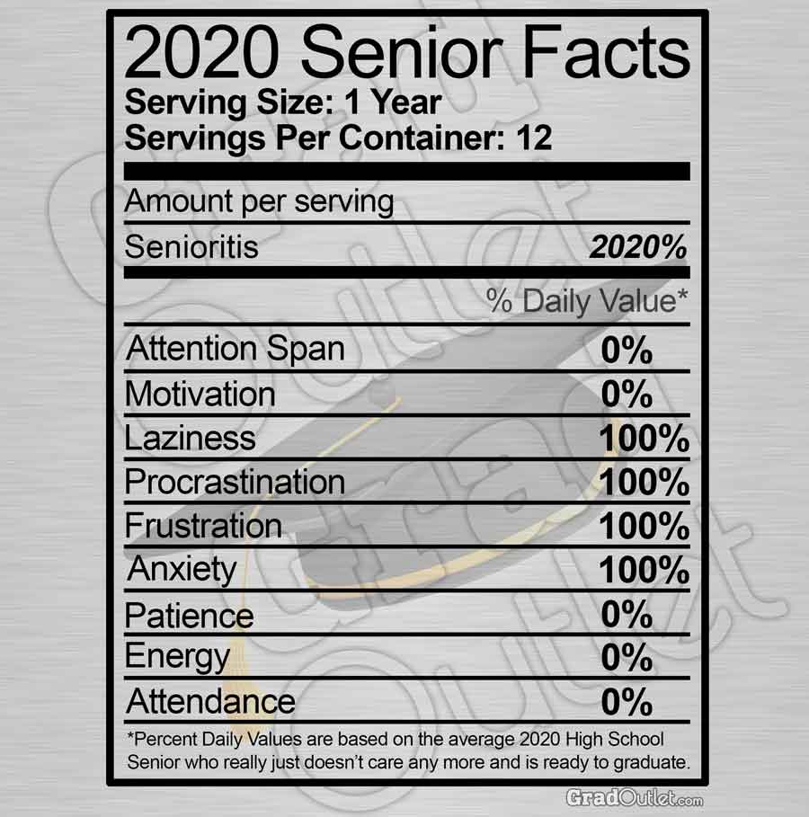 Senior Nutritional Facts - Dark Print Hoodie
