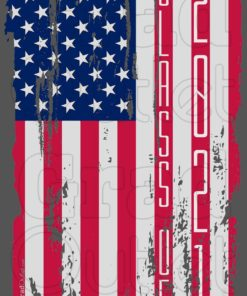 Tattered Vertical USA Flag