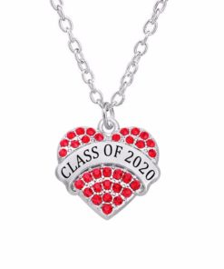 Class of 2019 2020 Crystal Heart Necklace