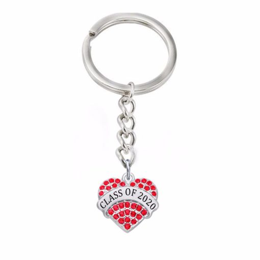 Class of 2019 2020 Crystal Heart Keychain