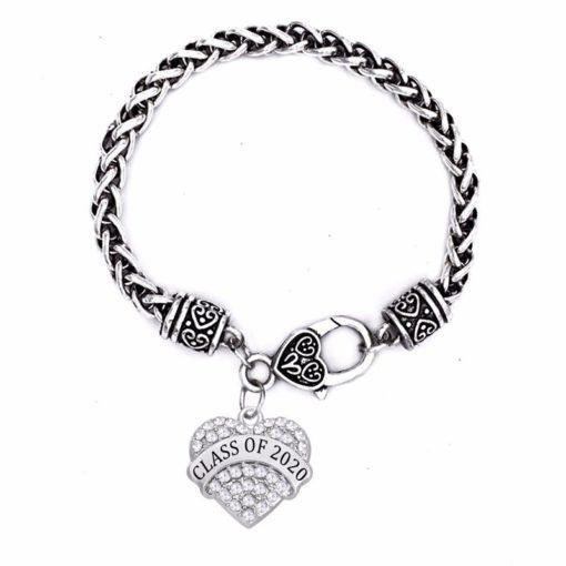 Class of 2020 Crystal Heart Bracelet