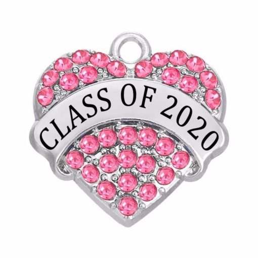 Class of 2019 2020 Crystal Heart Pendant