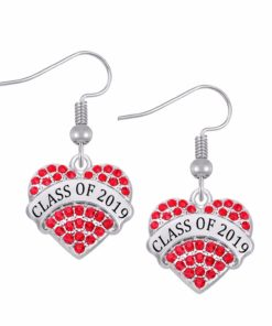 Class of 2019 2020 Crystal Heart Earrings
