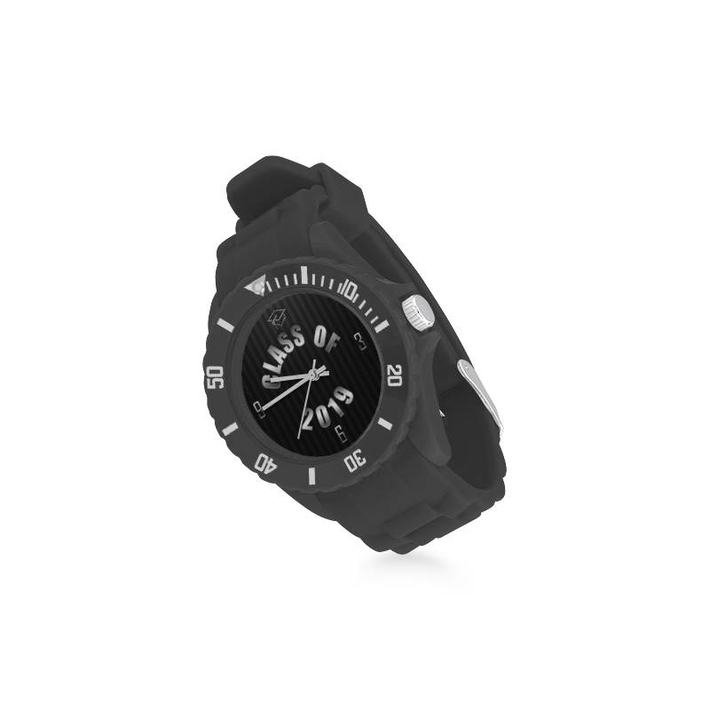 Rubber Sport Watch - Various Black Face Designs