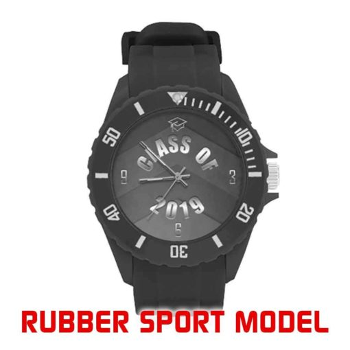 Rubber Sport Watch - Various Black Face Designs