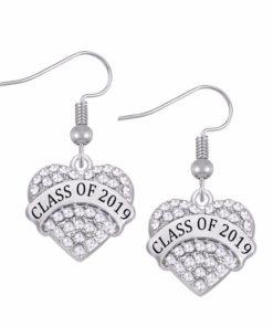 Class of 2019 2020 Crystal Heart Earrings